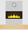 modern built-in fireplace vector image vector image