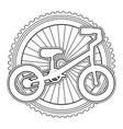 mountain bicycle with wheel vector image vector image