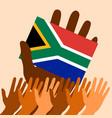 nelson mandela international day 18 july flag vector image vector image