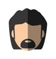 people face man with mustache icon image vector image vector image