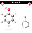 Phenol formula vector image vector image