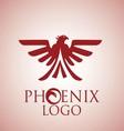 phoenix logo 8 vector image vector image
