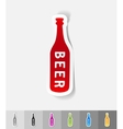 realistic design element bottle of beer vector image vector image