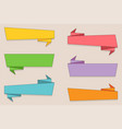 ribbon banner set colorful ribbons in flat style vector image