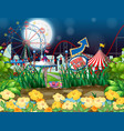 scene background design with circus at night vector image vector image