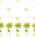seamless pattern with cartoon flowers bubbles vector image vector image