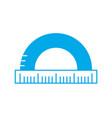 silhouette measuring ruler school tool design vector image
