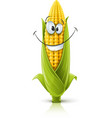 smiling corncob vector image vector image