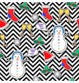 snowman sock speech bubble mistletoe snowflake vector image vector image