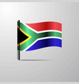south africa waving shiny flag design vector image vector image
