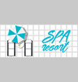 spa resort banner with beach loungers vector image vector image