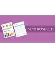 spreadsheet document vector image