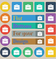 suitcase icon sign Set of twenty colored flat vector image vector image