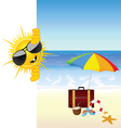 sun and the beach color vector image vector image