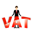 Vat payable vector image vector image
