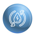 water recycling energy icon outline style vector image