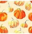 Watercolor halloween of pumpkins vector image vector image