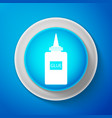 white glue icon isolated on blue background vector image