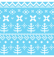 Winter Norwegian seamless knitting pattern - blue vector image