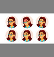 woman avatar people facial emotions comic vector image