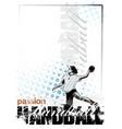 woman handball player vector image