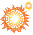 yellow and orange sunflowers on white background vector image