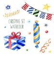 Watercolor christmas cute collection vector image
