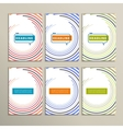 Round color lines on a white background vector image