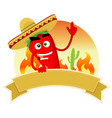 tex mex spice banner vector image