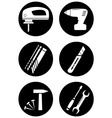 set tools for home work vector image