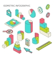 isometric business finance analytics chart graphic vector image