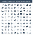 100 growth icons vector image vector image