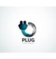 Abstract logo - plug icon vector image