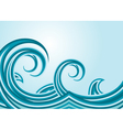 Abstract sea waves vector image vector image
