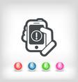 alert mobile device vector image