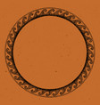ancient greek round ornament vector image