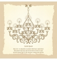 antique gothic chandeliar sketch vector image