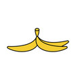 banana peel isolated banana skin style outline vector image