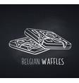 belgian waffles dessert icon badge vector image vector image