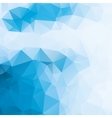 blue and white abstract background polygon vector image vector image
