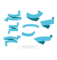 Blue ribbons banners vector image vector image