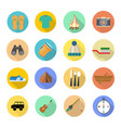 camping elements set of camping objects tent vector image vector image