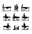 cartoon silhouette black characters people and vector image vector image