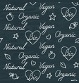 chalkboard seamless pattern with handwritten vector image