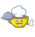 chef with food soup union mascot cartoon vector image vector image
