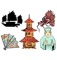 chinese motive vector image vector image