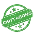 Chittagong green stamp vector image vector image