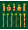 Christmas candles set vector image vector image