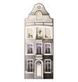 classic house facade composition vector image vector image