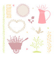 collection of summer elements for design vector image